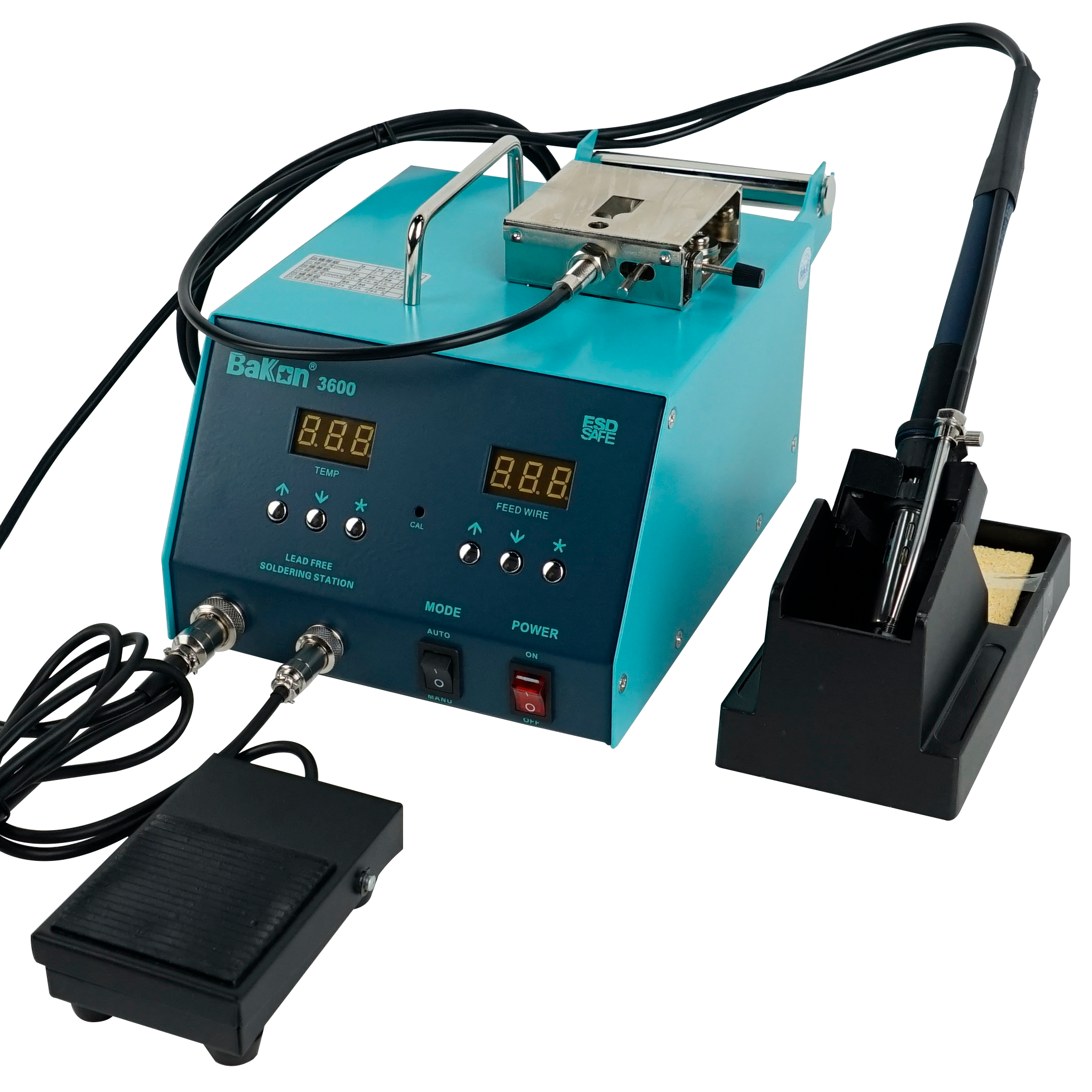 BK3600 High frequency wire feeder solder & lead-free soldering station for factory soldering